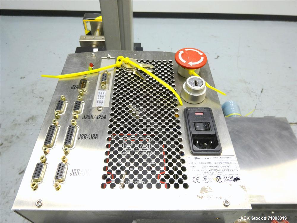 Used- Videojet Model Focus 1000 Laser Coder and Fumex Mofel FA2-SS Air Cleaner