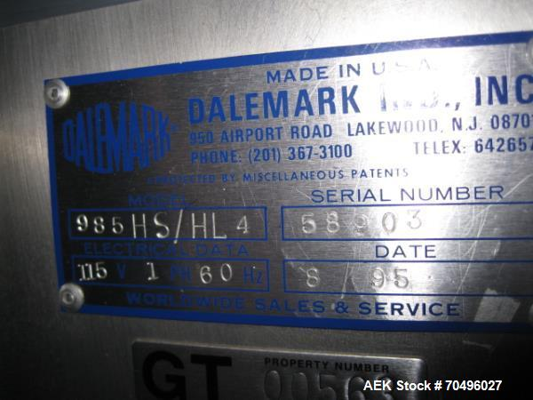 Used- Dalemark Hot Stamp Coder, Model 985HS/HL4.