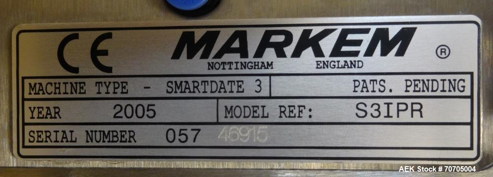 Used- Markem Model Smartdate 3i Hot Stamp Date Coder Head