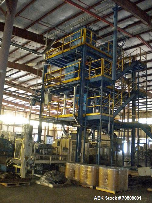 Used-Chronos Richardson Bulk Bag Filling Line capable of speeds up to 14 bags per minute or 30,000 lbs per hour.  Two system...