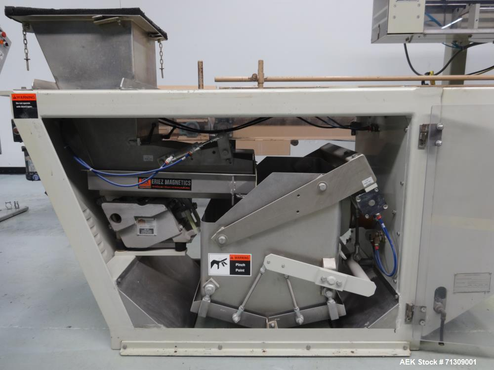 Used- Thiele Model 7134A Automatic Bulk Hanger with Thiele 6161 Scale Filler