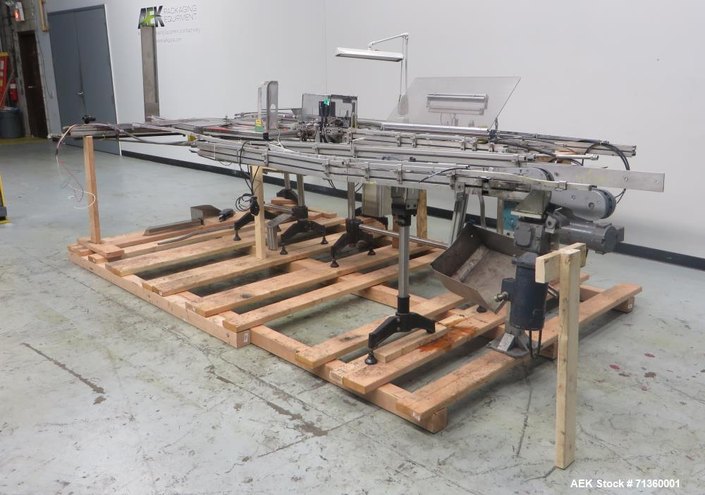 Used- Clear Automation Model M-017 Automatic Lipstick Filling Line.