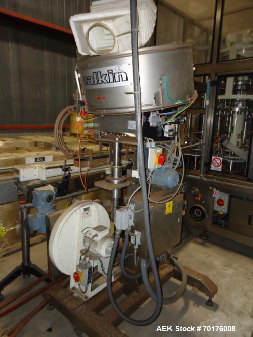 Used-Liquid Filling Line, last running shampoo/conditioner hair care products. Line includes Ronchi Exacta-R Monoblock 16 he...