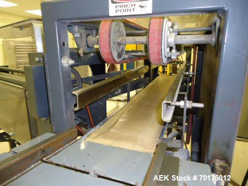 Used-603 x 700 Composite Can Line consisting of a Continental Model 301-GCR-16 seamer with infeed, a Burt model 704 roll-thr...
