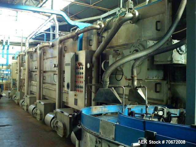 Used-Complete Carbonated Beverage Canning Line with capacity 30,000 cans per hour, can type 202.  The plant consists of the ...