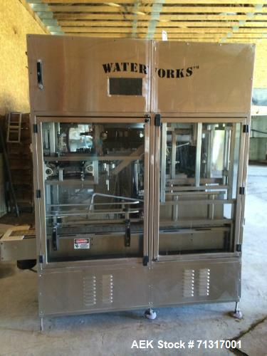 Used- Water Works 5 Gallon Bottling Line. 480 bph, automatic system that can prewash, wash, sanitize, rinse, fill and cap 3,...