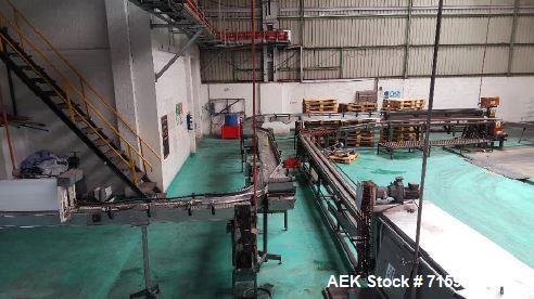 Used-  Crown Cork Returnable Glass Bottle Packing Line for Disposal. 14,400 bph (300 ml). Bottle formats: 170ml, 200ml, 300m...