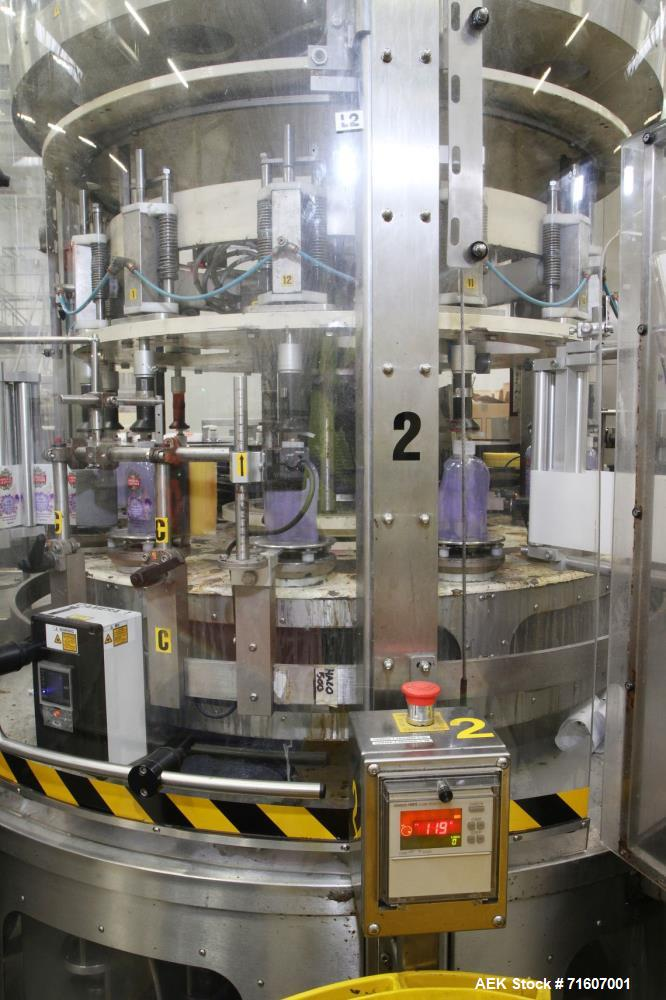 Used- Complete PZC Bottle Filling, Capping and Labelling Line. With a capacity of 76.800 bottles (8 hour shift). Bottle size...