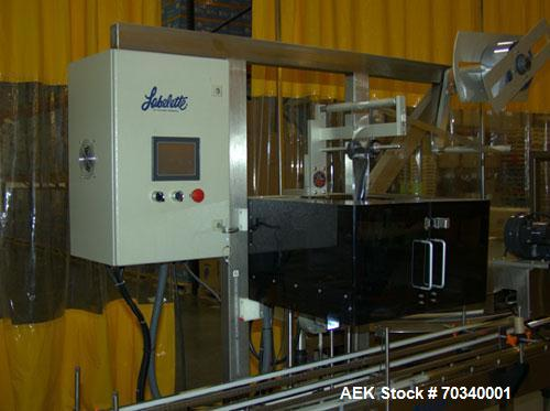 """Used-Used: Accutek APOF-12 inline liquid filling line. Line Consists of Accutek 42"""" diam unscrambler table, Accutek Model AP..."""