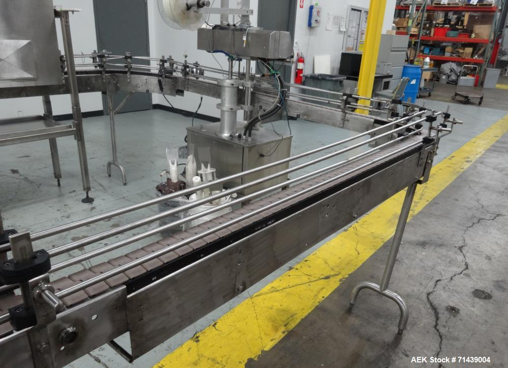Used- Alcoa 8 Head Inline Pressure Gravity Filling And Sleeving Line