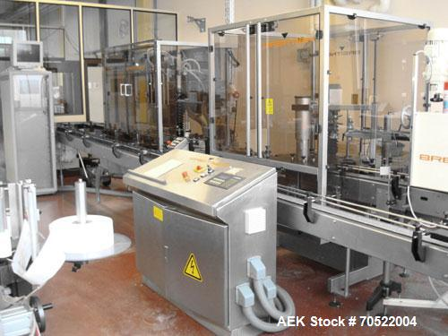 Used-Breitner/Geset Bottle Filling Line for conducive liquids.  Maximum output 60-80 objects per minute, 230/400V/50 hz.  Co...