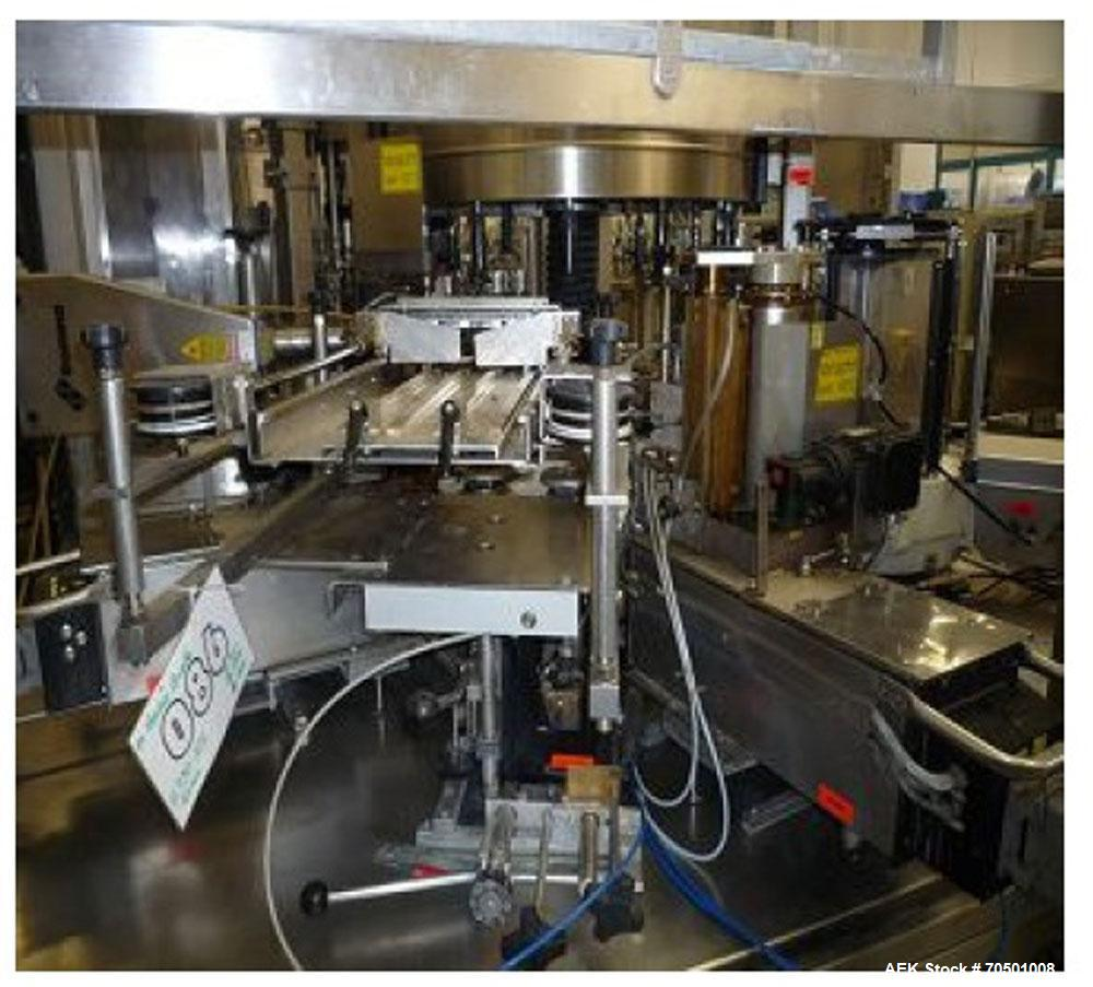 Used-Krones Bottling Line for non-alcoholic beverages and mineral water.  Maximum capacity 16,000 bottles/h at 16.9 fl oz (0...