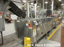 Used-Complete Serac R36ZV 121620 high speed net weigh filling line for personal care lotions. Line consists of  Pace model M...