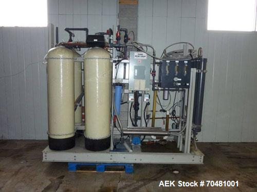 Used-Norland 5 Gallon Bottle Water Filling Line capable of filling up to 150 bottles per hour.  Norland BW150 bottle washer,...