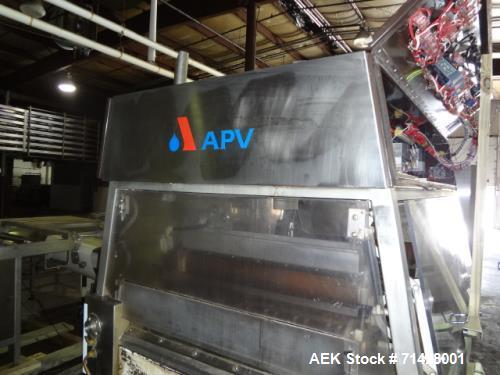 """Used- APV 34"""" Extrusion Granola Bar machinery. Stainless steel process tank, Walker 200 gallon, serial number 1785, model P2..."""