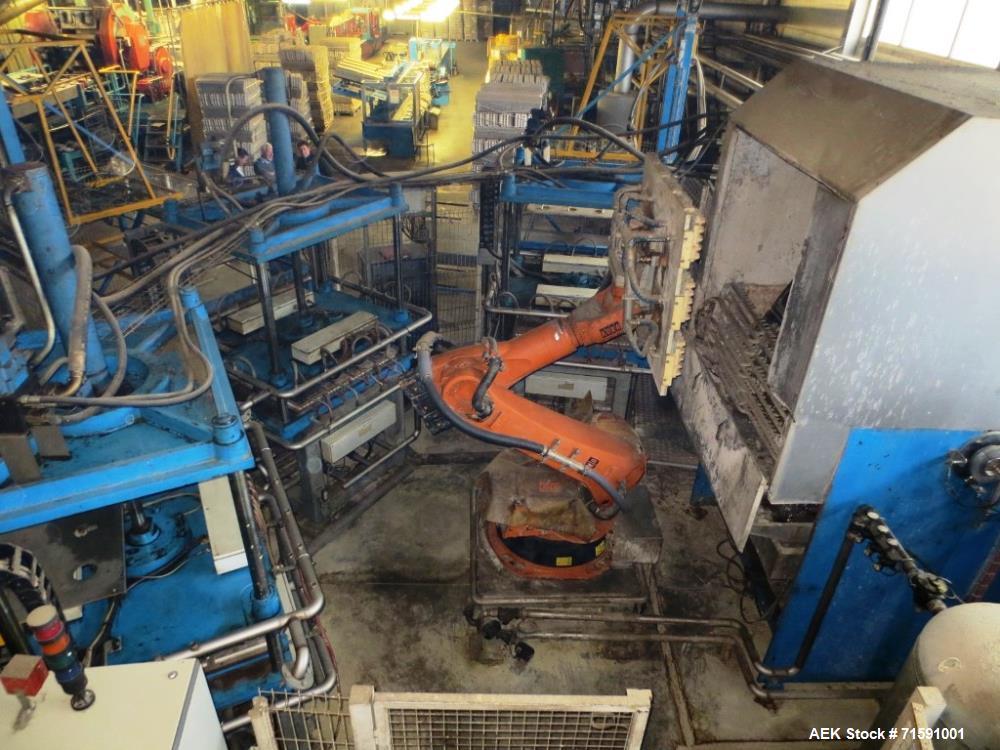 Used- Ecofeutre Model DBB2 Automatic Robotic Pulp Molding Machine
