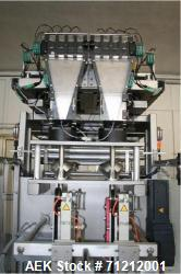 Used- Pouch Packaging line. Capacity 2 x 80 trays / minute. Line consists of Hassia model TC55 Chipboard hooded tray former ...