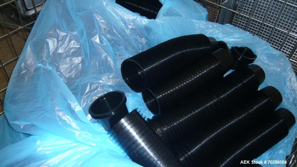 Used- Mondini Line for Packaging Dough. (1) Unfeeder for cups. (2) 2 Mondini dosers. (3) Mondini sealer. Stainless steel.