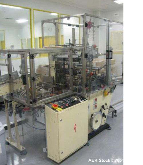 Used-Blister Packaging/Cartoning Line.  Maximum output 100 cartons per minute.  Comprising of (1) Marchesini MA150S Automati...