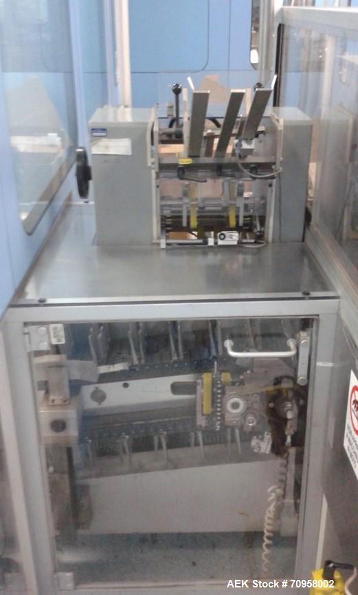 Used- Uhlmann Blister Thermoformer, Model UPS4. Serial# 383, built 1993, with Uhlmann cartoner, model C300, serial# 339, bui...