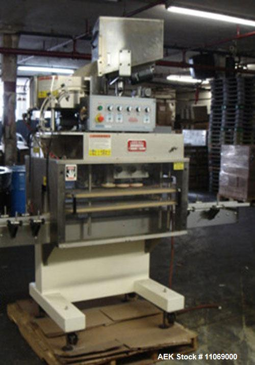 """Used-Complete Powder Filling Line. Includes the following equipment:48"""" diameter accumulating table, AMS model A-100 auger f..."""