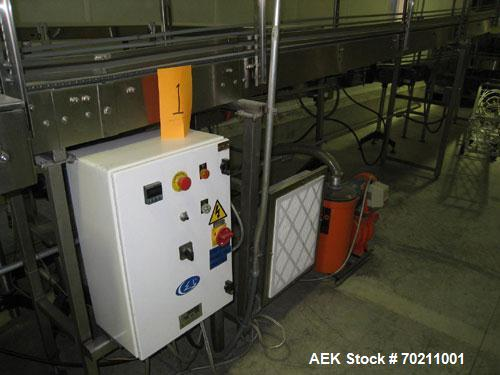 Used-Complete Canister Filling Line consisting of the following equipment:Canister depalletizer with pallet stacker, inline ...