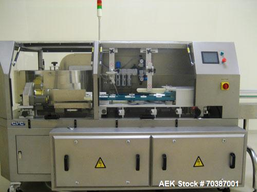 Used-Used: CVC Technologies solid dose packaging lines. Three (3) Lines available. Lines consist of a Model CVC 1265 bottle ...