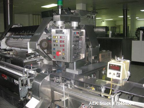 Used- Lakso 990 Solid Dose Tablet Capsule Filling Line. Line consists of Omega RP Series bulk bottle unscrambler with ionize...