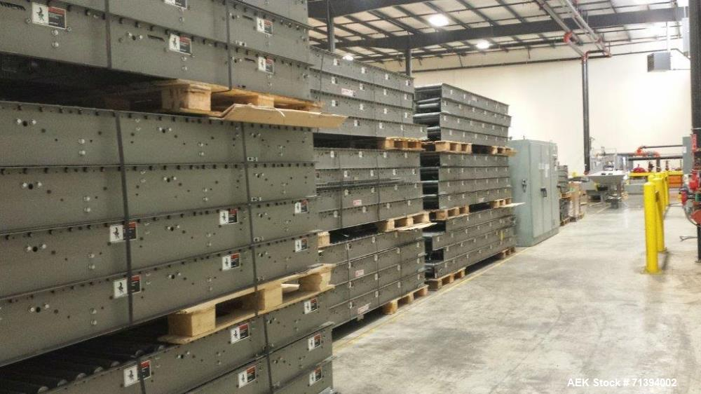 "Used- HK Conveyor System. Used as an overhead system. Over 4,000 feet in length. Includes just over 2500 feet of 19"" conveyo..."