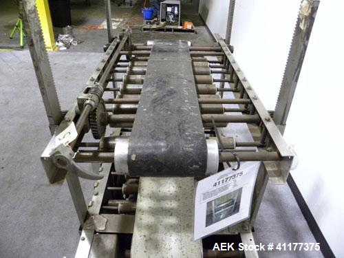 """Used- ABC Packaging Compression Section Powered Roller Conveyor, Model 47. Top belt 8"""" wide x 44"""" long, bottom driven belt 1..."""
