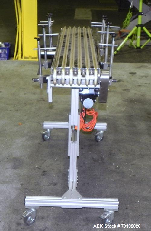 """Used- Dorner Portable Conveyor with Eagle belting. Unit is 5' long x 8"""" wide and has (6) Eagle belts. Driven by a 1/8 hp, 13..."""