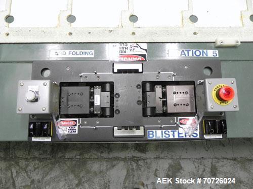 "Used- Hytrol 25' L ""Manual Card & Wallet"" Workstation Conveyor"