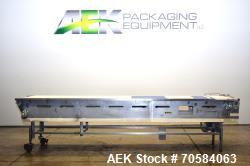 "Used-Packing Conveyor  table top style chain,   24""W x 12.5' L  X 36""h,  all Stainless Steel frame construction   3/60/230v ..."