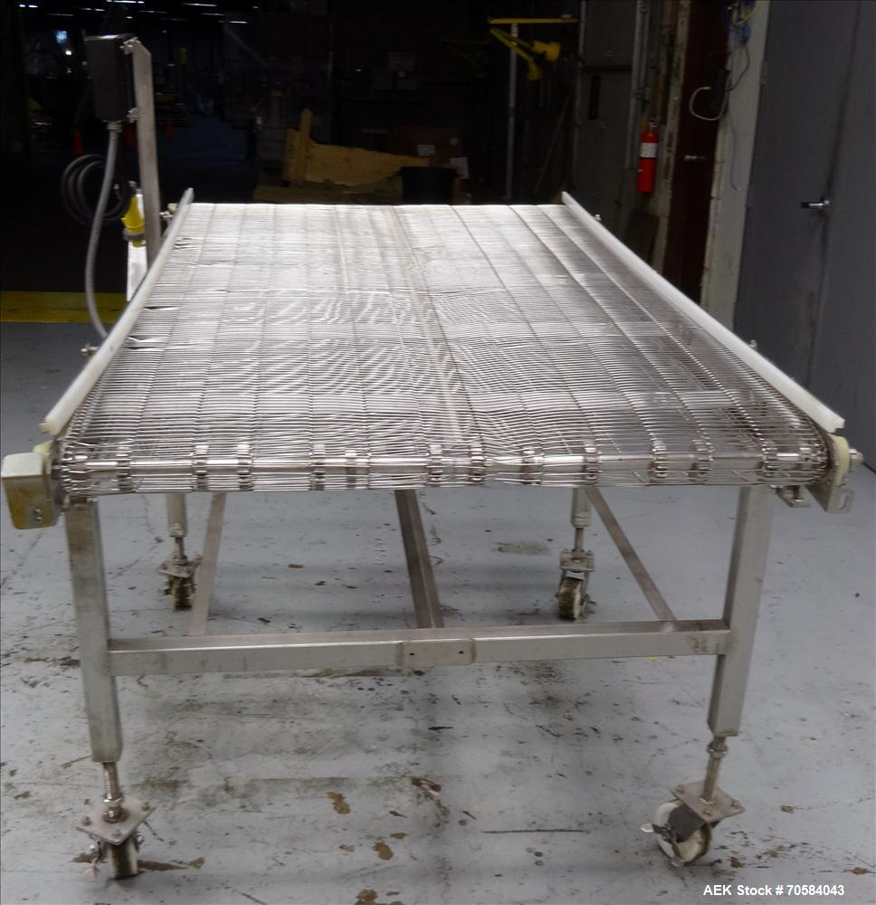 Used- Zebra Thermal Incline Wire Conveyor