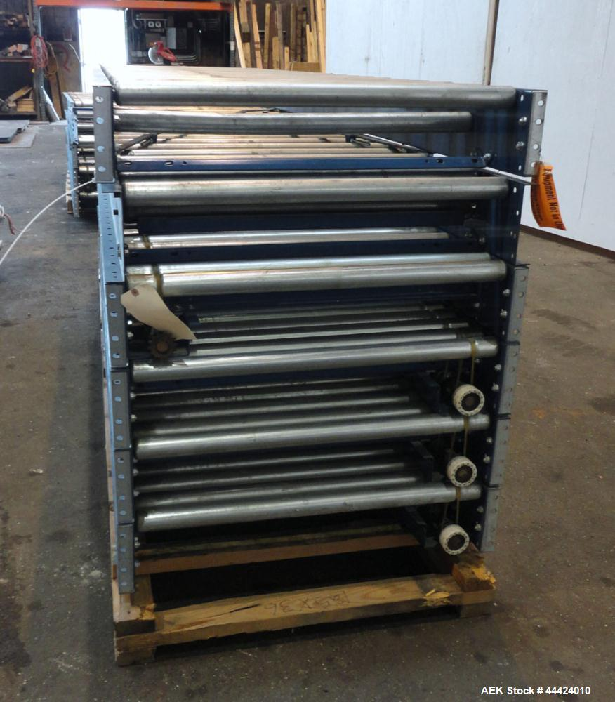 Used- Carbon Steel Automated Conveyor Systems Powered Roller Conveyo