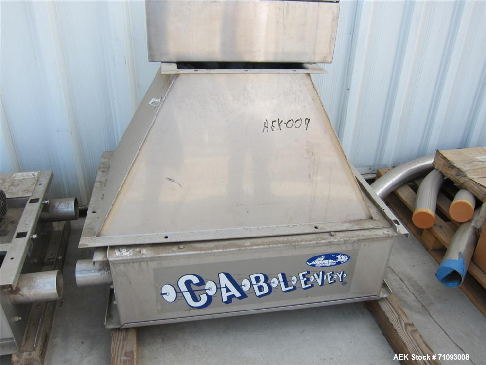 Used-Cablevey Stainless Steel Dry Goods Conveying System. 100' of piping/conveyor. Food grade.