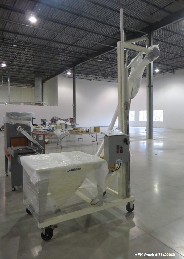 """Used- Hapman Helix Screw Conveyor. Has 112"""" tall discharge. Is constructed of fo"""