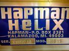 Used- Hapman Model 300SS Helix Fleixible Screw Conveyor. Has 3