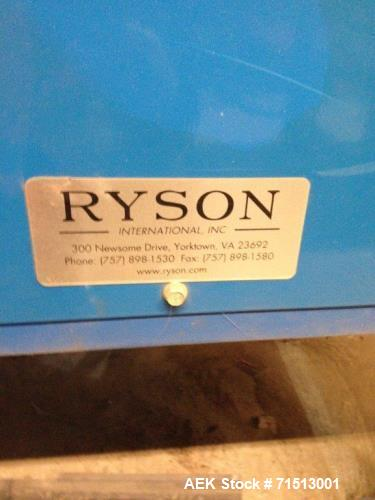 "Used- Ryson Spiral Case Coveyors. Two like systems. They are 132"" high x 102""O.D. x 24OAW"
