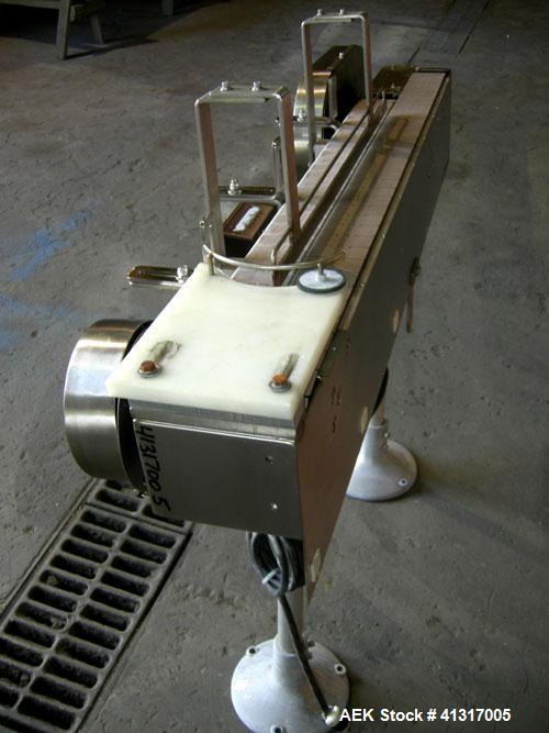 Used- Dual Lane Plastic Belt Table Top Conveyor