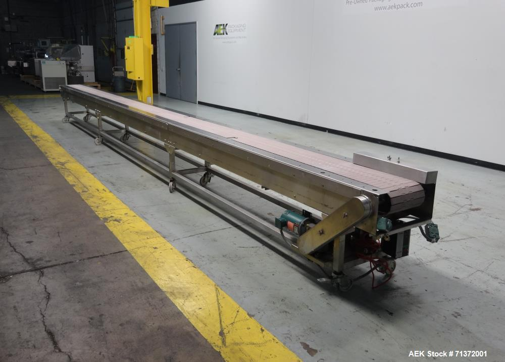 Used- KAMFLEX Corp. Model 811 Horizontal Delrin Table Top Chain Conveyor.