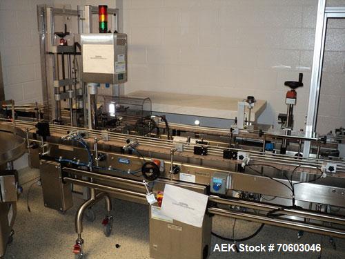 "Used- Slat Conveyor, 6"" wide x 150"" long traveling length, adjustable height."