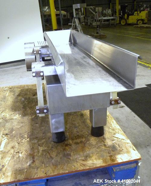Used- Stainless Steel Aseeco Corp Vibratory Conveyor, Model VHF-8
