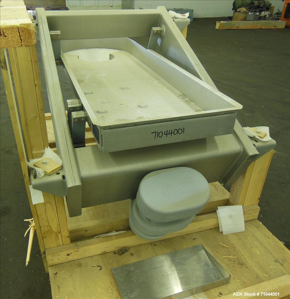 Unused- Stainless Steel Key Technology ISO-FLO Scale Feed Vibratory Conveyor, Model 433456-1