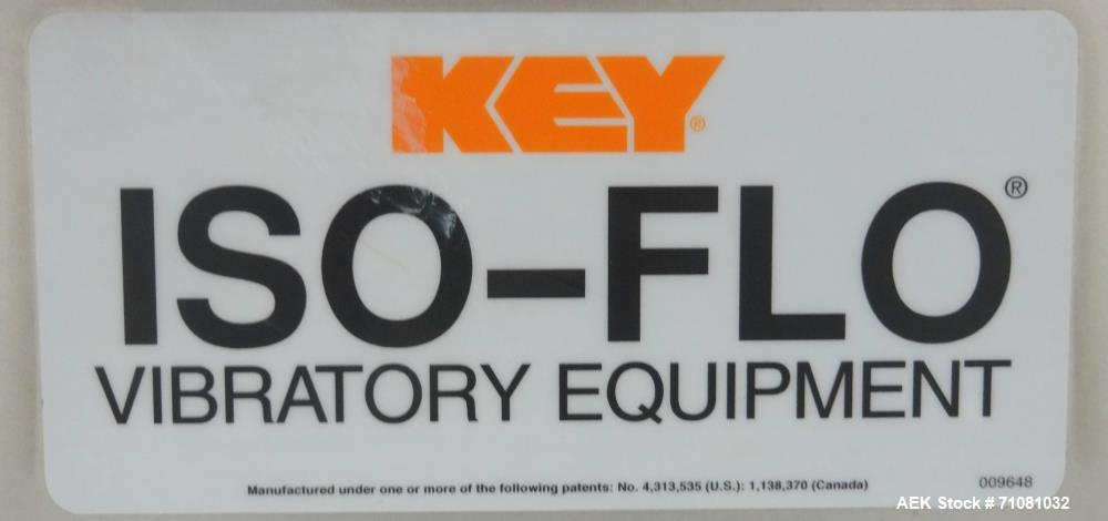Used- Key Technology Model Iso-Flo 429894-1 Smooth-Cycle Scale-Feed Vibratory Co