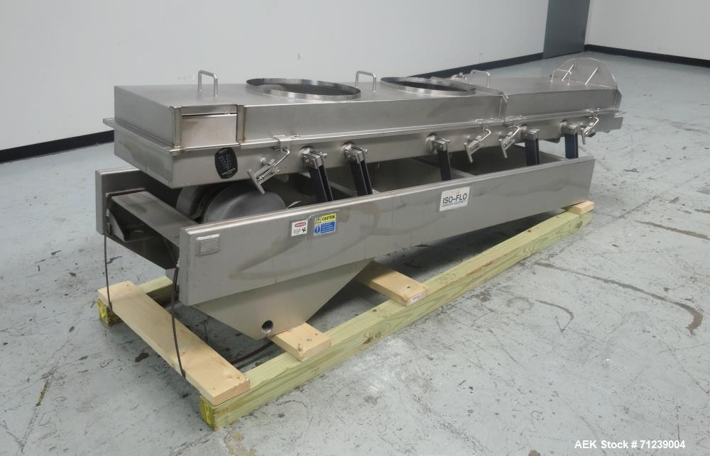 Used- Key Technology Model Iso-Flo 431751-1 Enclosed Vibratory Conveyor