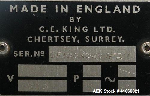 Used- King Inverted U Single Head Cottoner, Model CF100RLRU