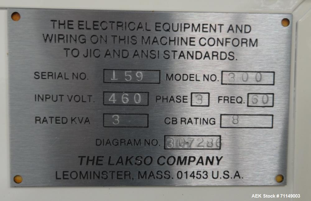 Used- Lakso Model 300 Twin-Head Inverted 'U' Cottoner