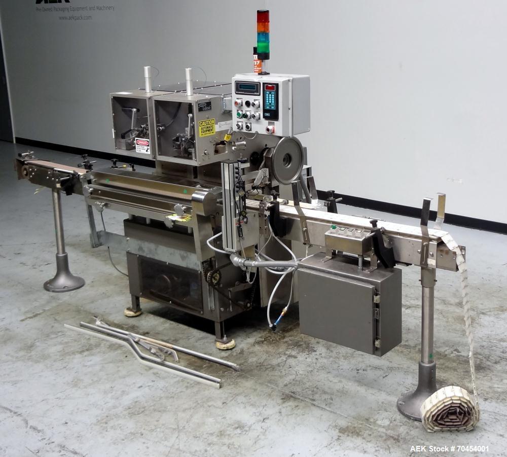 Used- Lakso Model 300 / 450 Automatic Twin Head Cottoner