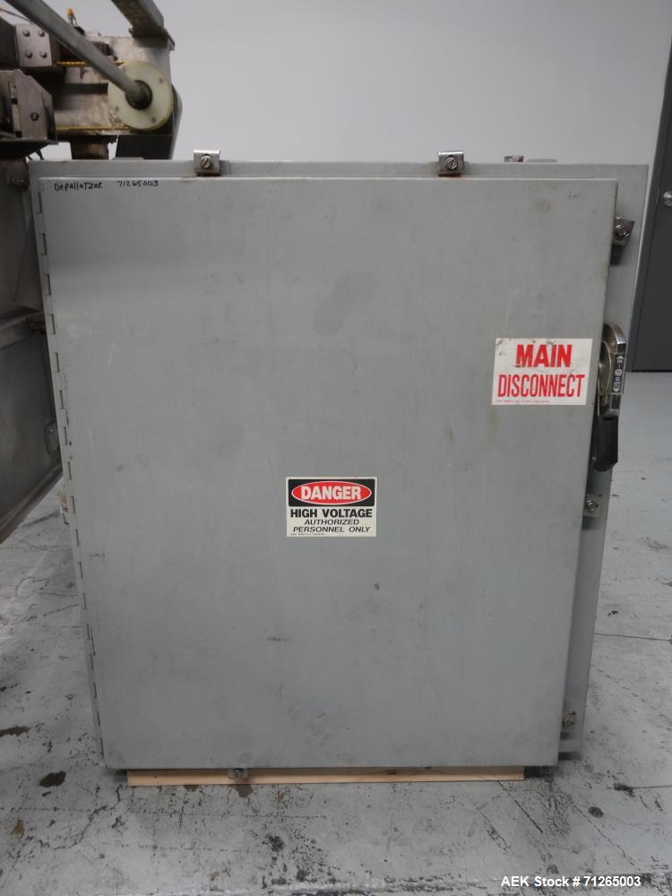Used- Busse Brothers Model GBD1 Semi Automatic Bulk Glass Depalletizer